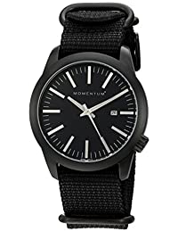 Momentum Men's 1M-SP14B7B Analog Display Japanese Quartz Black Watch