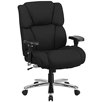 Flash Furniture HERCULES Series 24/7 Intensive Use Big & Tall 400 lb. Rated Executive Swivel Chair with Lumbar Knob