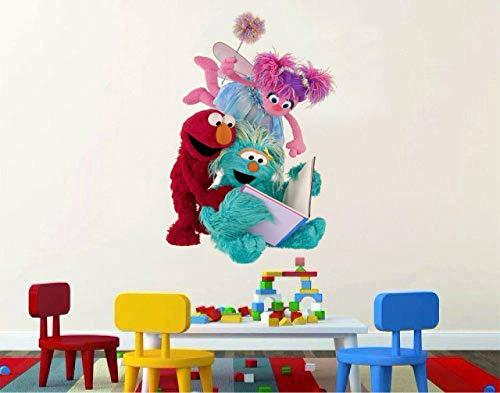 Sesame Street Elmo Oscar 3D Window View Decal Graphic WALL STICKER Art Mural 18