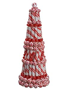 allstate peppermint twist sugared gumdrop table top christmas cone tree topiary 20