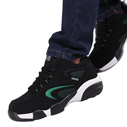 Santimon Snow Running Shoes Men Winter Warm Athletic Cross-Trainer Trail Runners Outdoor Cushion Sports Shoes Green ZtHT2x