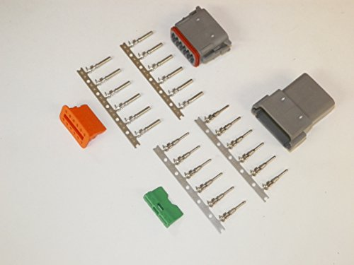 Deutsch 12-pin Connector Kit W/housing, Terminals, Pins, and Seals 14-16 Gauge Crimp Style Terminals