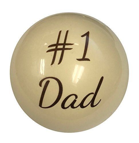 D&L Billiards  Custom Number One Dad Father's Day Cue Ball by for Dad or Husband Pool Players