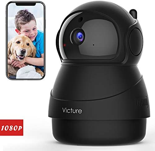 Victure 1080P FHD Pet Camera with WiFi IP Camera Indoor Security Camera Motion Detection Night Vision Home Surveillance Baby Elder Monitor with 2 Way Audio iOS Android