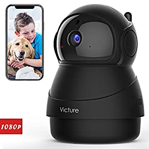 [2020 Upgraded] Victure 1080P Pet Camera, Wi-Fi IP Camera, Indoor Security Camera for Pet/Baby/Elder, 2.4G Home Camera…