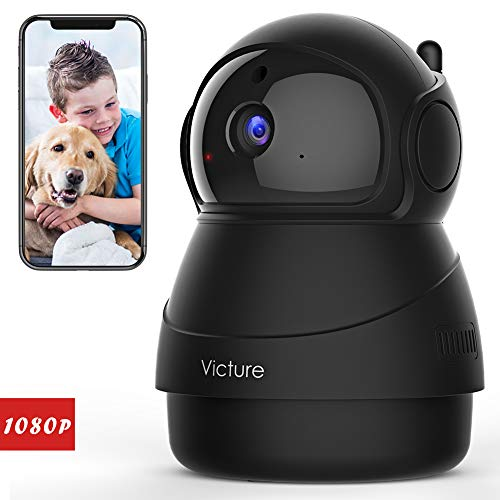 Victure 1080P FHD Pet Camera with WiFi IP Camera Indoor Wireless Security Camera Motion Detection Night Vision Home Surveillance Baby Elder Monitor with 2 Way Audio iOS Android