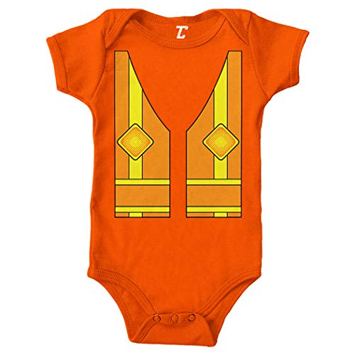 Tcombo Construction Worker Vest - Costume Cute Bodysuit (Orange, 6 -