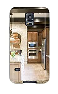 CaseyKBrown Case Cover Protector Specially Made For Galaxy S5 Two Tone Cabinetry Kitchen