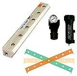 EXAIR 110284 Super Air Knife Kit, 2.9 SCFM per Inch Maximum Flow Rate, 80 psig