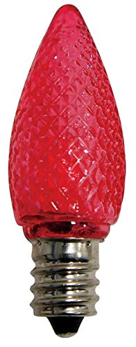 Celebrations Uyrt4514 C7 Replacement Led Bulbs, Red, 3 Diode