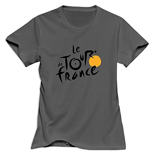 Tour De France Lady T-Shirt Size Large DeepHeather