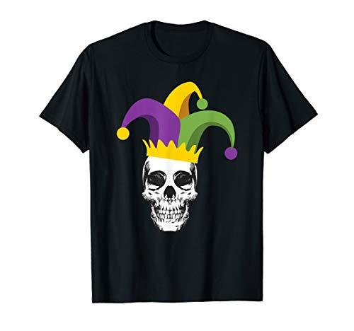 Mardi Gras Skull Jester Hat Funny Parade Costume T shirt