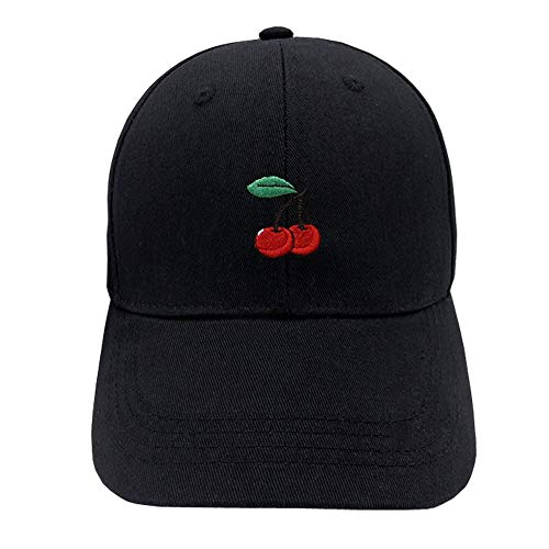 Home Fashion DIY Cherry Hat Embroidered Dad Hat Cotton Baseball Cap (Multi-Color) -