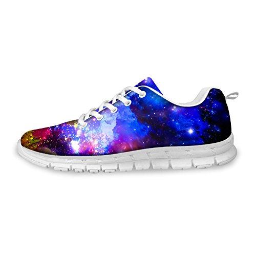 Voor U Ontwerpen Fashion Galaxy Print Heren & Dames Ademend Lichtgewicht Lace Up Sneakers Hardloopschoenen Galaxy-2