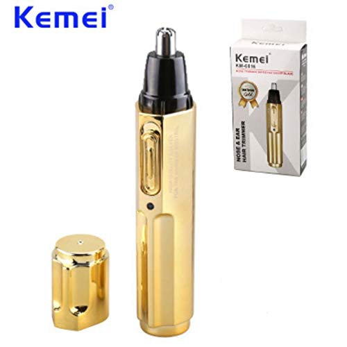 Epilator - New Electric Nose Hair Trimmer Professional Rechargeable Stainless Steel Nose Hair Cut Machine cortapelos nariz KM-6616