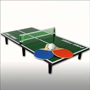 Mini-tenis verde 60 cm con raquetas, red y pelota
