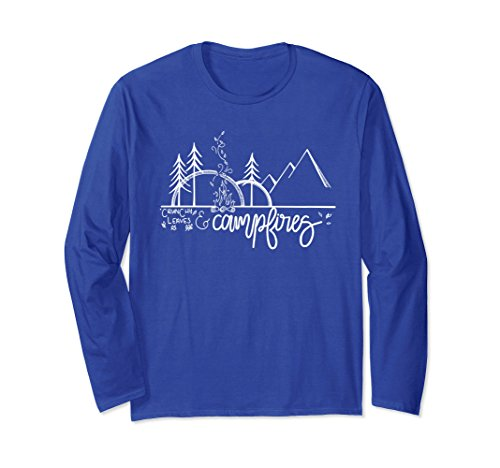 An Outdoor Autumn Camping Shirt Crunchy Leaves /& Campfires