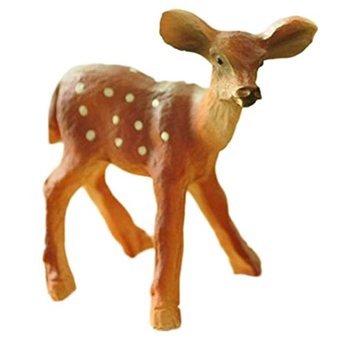 Qingsun Fairy Garden Accessories Miniature Giraffe Figurines Miniature Fairy Garden Animal Ornament DIY Craft Micro Landscape Ornament Decor