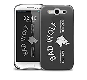 bad wolf grey Samsung Galaxy S3 GS3 protective phone case