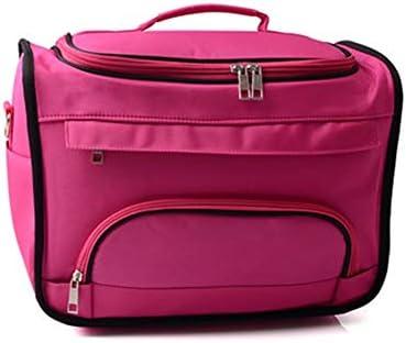 トイレタリーバッグ化粧品袋 コスメティックバッグ専門の大容量メイクアップキットウォッシュバッグ収納袋 シェービングキットオーガナイザーバッグ (色 : Pink, Size : 24x20x34cm)