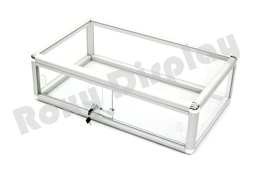 ROXYDISPLAY™ Countertop Glass Display Showcase Standard 30 inches aluminum Frame with Front ()