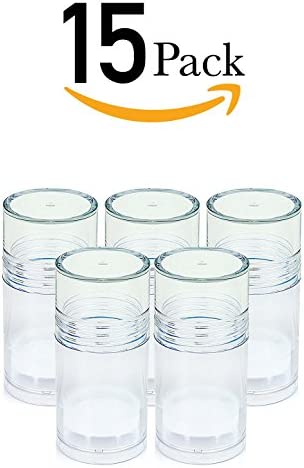 ChefLand 15 Clear Push Up Deodorant Containers Empty Bottles – Make Your Own Deodorant, Heel Balm 1 Oz