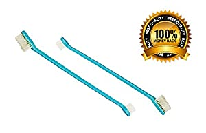 Double Headed Dog Toothbrush Set 2 Pack
