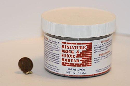 Dollhouse Miniature Mini-brick Mortar, 16 Oz., Gray