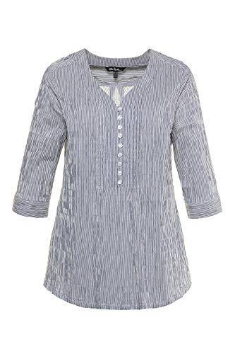 Ulla Popken Damen Bubbeltunika mit Streifen Bluse