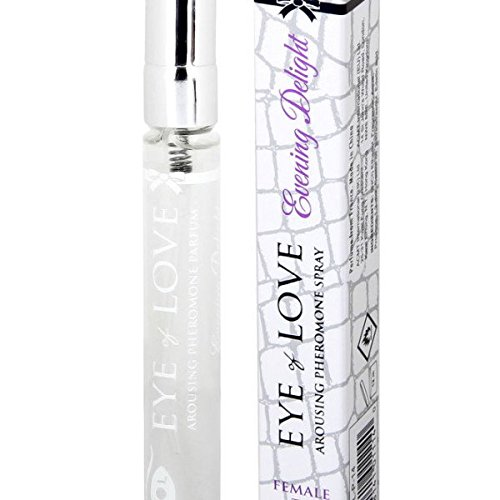 Evening Delight By Eye of Love Best Pheromone Parfum Spray to Attract Men, Highest Concentration, Travel size, .33 fl. oz. (10 (Delight Gift)