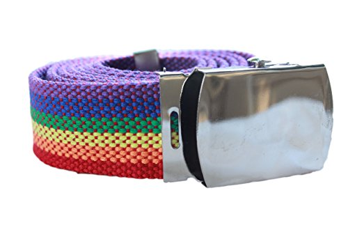 (Canvas Rainbow Brite Bright Webbing Belt Accessory For Halloween Costume)