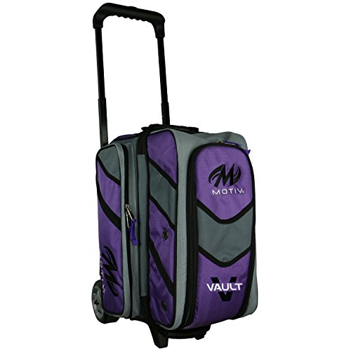 Motiv Vault 2 Ball Roller Bowling Bag Black/Grey/Purple