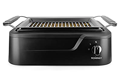 Tenergy Redigrill Smokeless Infrared Grill, Indoor Grill, Heating Electric Tabletop Grill, Non-Stick Easy to Clean BBQ Grill, for Party/Home, ETL Certified