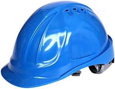 LCSHAN 高強度ABSヘルメット建設現場の換気エンジニアリングキャップを強化 (Color : Blue)