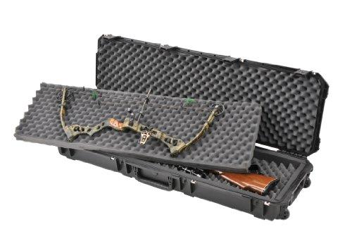 CVPKG Presents - Black SKB 3i-5014-DB-B Double Rifle / Double Bow case & 2 TSA Locking Latches with keys.