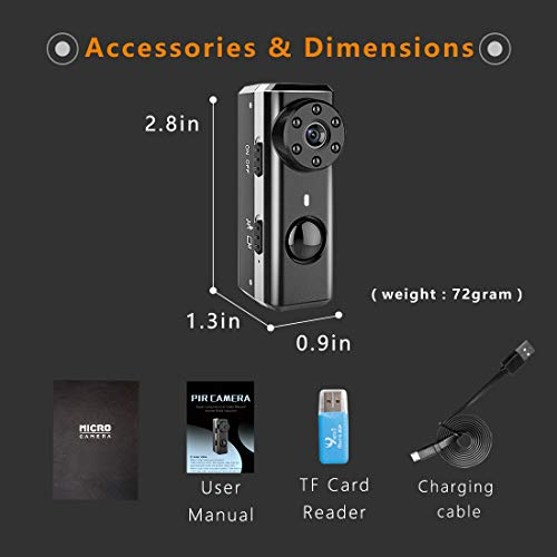PIR Long Standby HD Spy Hidden Security Camera Micro Nanny Small Video Recorder
