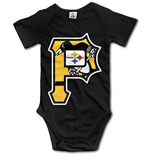 ElishaJ Pittsburgh Sports Logo Mixed Babys Romper Jumpsuit Outfits Black Size 12 Months
