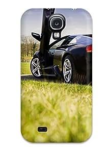 Brand New S4 Defender Case For Galaxy (black Lamborghini Murcielago In Park Green Grass Cars Lamborghini)