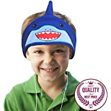 Charlxee Kids Headphones,Volume Limiting,Ultra Thin Speakers Soft Children Fleece Headband,Adjustable Cozy Headset with Mic,Blue Shark Toddler Headphones for Travel,Home,School,Gift-Shark