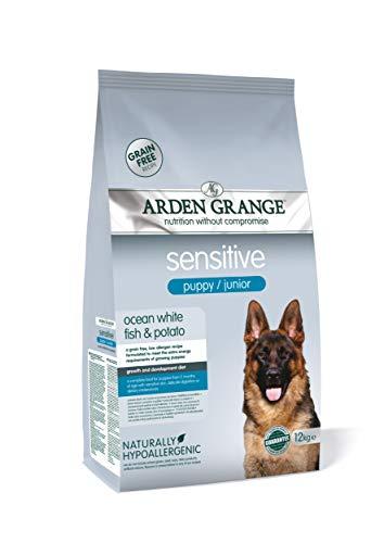 Arden Grange Sensitive Puppy/Junior Dry Dog Food Grain Free Ocean White Fish and Potato, 12 kg