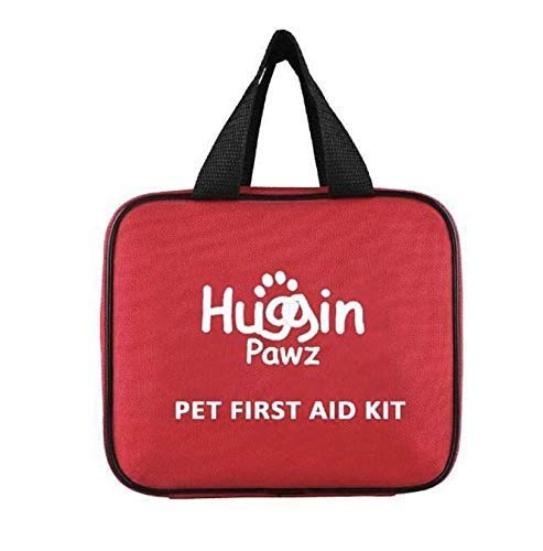 Huggin Pawz 78 Piece Pet First Aid Kit, Be Prepared Your pet and for You. Special kit Contains Human and Canine First-aid Essentials. Has 78 Essential Items to Handle Most Emergency situations.