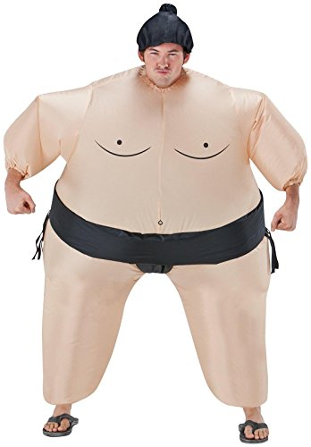 Female Wrestler Costumes (Inflatable Sumo Wrestler Costume - One Size - Chest Size 40-48)