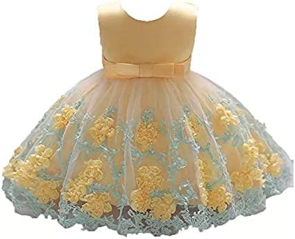 Moda Fina Baby Girl Party Wear Ball Gown for Birthday, Girls Party Dress, Baby Girls Frock, Kids Party Wear, Princess Frock Baby Girls at amazon