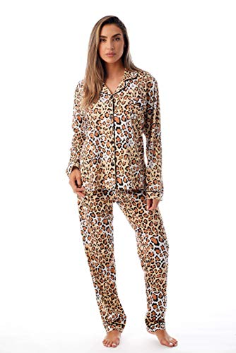 (Just Love Printed Button Front PJ Pant Set 6759-10114-L Brown -)