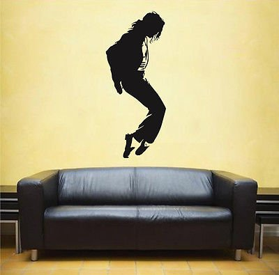 ik1714 Wall Decal Sticker Michael Jackson Pop star singer bedroom living room (Jackson Michael Decal Sticker)