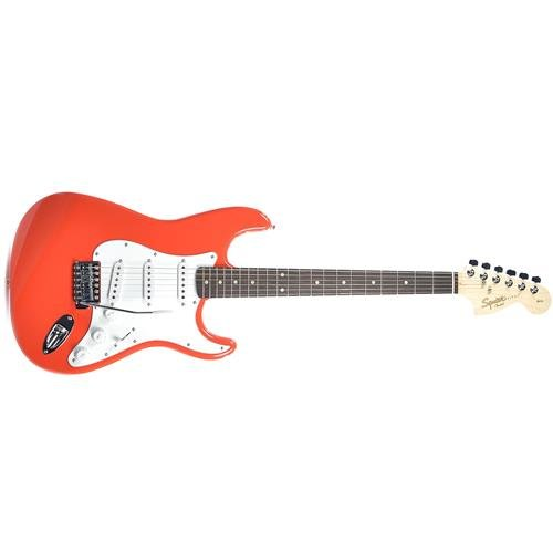 Price comparison product image Squier by Fender Affinity Stratocaster Beginner Electric Guitar - Rosewood Fingerboard,  Race Red