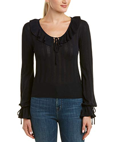 cupcakes and cashmere Women's Koren V-Neck Sweater, Ink, Medium
