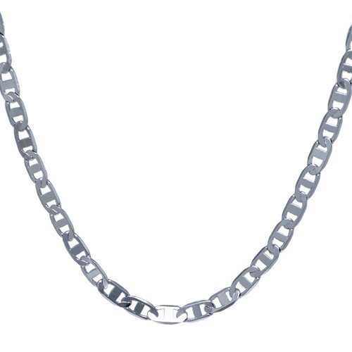 THE ICE EMPIRE JEWELRY, LLC .925 Italian Sterling Silver Flat Round Marina Links Chain Bracelets Nickel Free 7-36