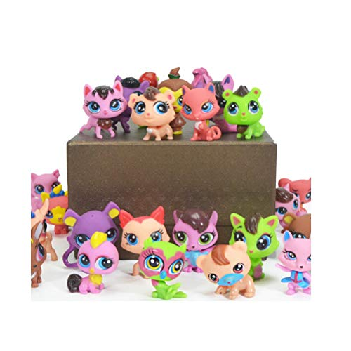 Doc&Good Inc. Action Figure Toys for Children Boy Pet Cat Dog Story Toy Animal Model Figurines Shop for Girl Toys Loose Pet (10pcs)