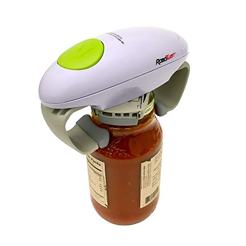 Robo Twist 1014 - The Hands Free Easy Seen on TV Works on All Ja Jar Opener, Small, White
